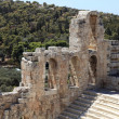 View of ancient Odeon of Herodes Atticus - Stock Photo