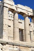 Fragment of Propylaea of the Athenian Acropolis — Stock Photo