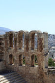 Ruins of wall of Odeon of Herodes Atticus — Stock Photo