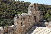 View of ancient Odeon of Herodes Atticus — Stock Photo