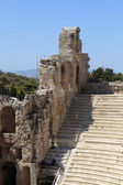 Wall and seats of Odeon of Herodes Atticus — Stock Photo