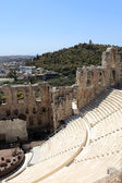 Wall of ancient Odeon of Herodes Atticus — Stock Photo