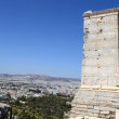 View of ancient Agrippa tower of the Acropolis Propylae — Stock Photo #21226753