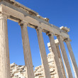 Columns of Erechtheum temple — Stock Photo