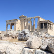 Landscape of Erechtheum ancient temple — Stock Photo