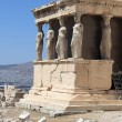 Sculpture of Erechtheum ancient Greek temple - Stock Photo