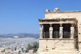 Sculpture of Erechtheum greek temple — Stock Photo