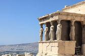 Sculpture of Erechtheum temple — Stock Photo