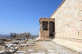 Wall of Erechtheum greek temple — Stock Photo
