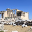 Facade of Erechtheum ancient temple — Stock Photo