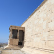 Stock Photo: Wall of Erechtheum ancient temple