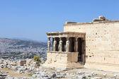 Fragment of Erechtheum ancient greek temple — Stock Photo