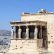 Fragment of Erechtheum greek temple — Stock Photo