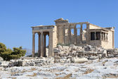 Facade of Erechtheum temple — Stock Photo
