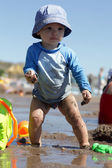 Toddler on a beach — Stock Photo