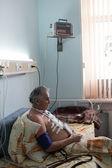 Senior man has rehabilitation — Stock Photo