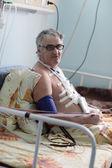 пациент имеет реабилитации — Стоковое фото