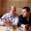 Two friends relax in cafe — Stock Photo #23053372