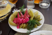 Marinaded vegetables in taverna — Stock Photo