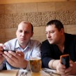 Stock Photo: Two men in cafe