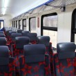 Inside of train — Stock Photo