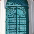 Iron door of exaltation of the Cross cathedral — Stock Photo