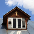 Attic of chapel — Stock Photo