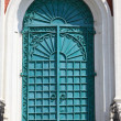Green door of exaltation of the Cross cathedral — Stock Photo #29678383