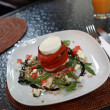 Plate of insalata caprese — Stock Photo
