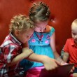 Stock Photo: Children with tablet PC