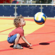 Toddler playing with ball — Stock Photo