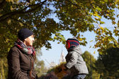 Mother with child in park — Stock Photo