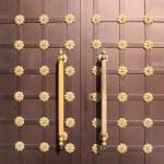 Iron brown door — Stock Photo #33698785