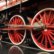 Wheels of steam train — Stockfoto