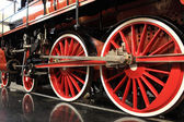 Wheels of steam train — Stock Photo