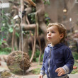 Stock Photo: Child visiting museum