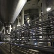 Stock Photo: Pipes of brewery