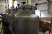 Equipment of a beer factory — Stock Photo