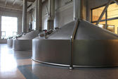 Stainless fermentation vats — Stock Photo