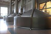 Stainless fermentation vats — Stock Photo