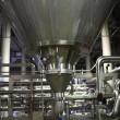 Stock Photo: Stainless equipment of brewery