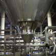 Stainless equipment of brewery — Stock Photo #36420471