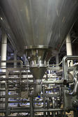 Stainless equipment of brewery — Stock Photo