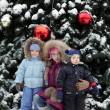 Children and Christmas tree — Stock Photo #37065673