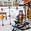 Boy on snow scooter — 图库照片 #37758001