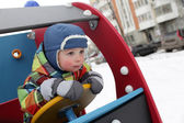 Kid driving — Stock Photo