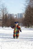 Boy walking in park — Stock Photo