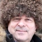 Man posing in caucasian hat — Stock Photo