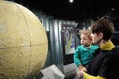 Family and globe of moon — Stockfoto