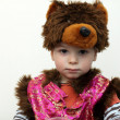 Stock Photo: Boy in bear suit